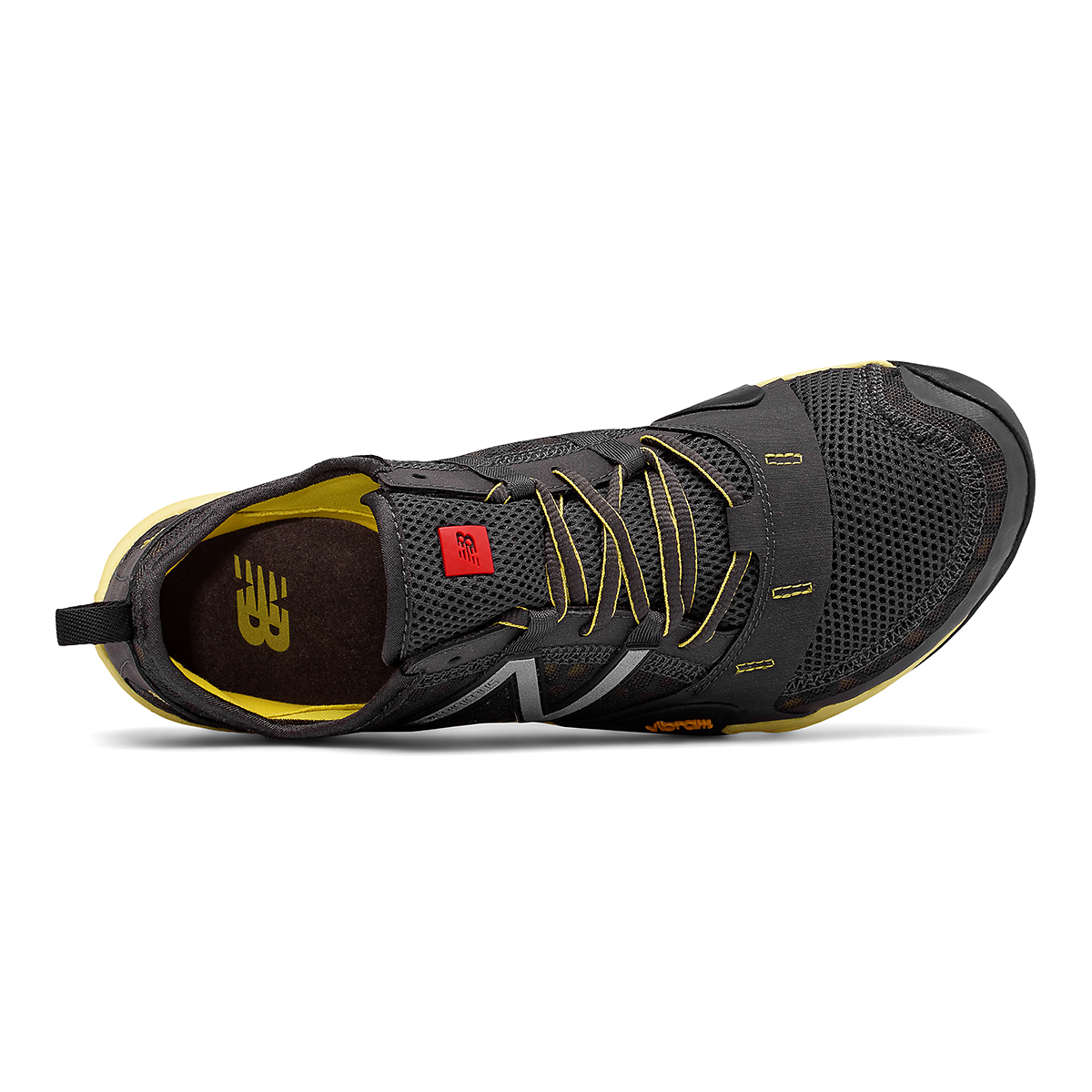 Men's New Balance Minimus T10V1 Trail Running Shoe - Color: Grey/Yellow - Size: 5 - Width: Wide, Grey/Yellow, large, image 3