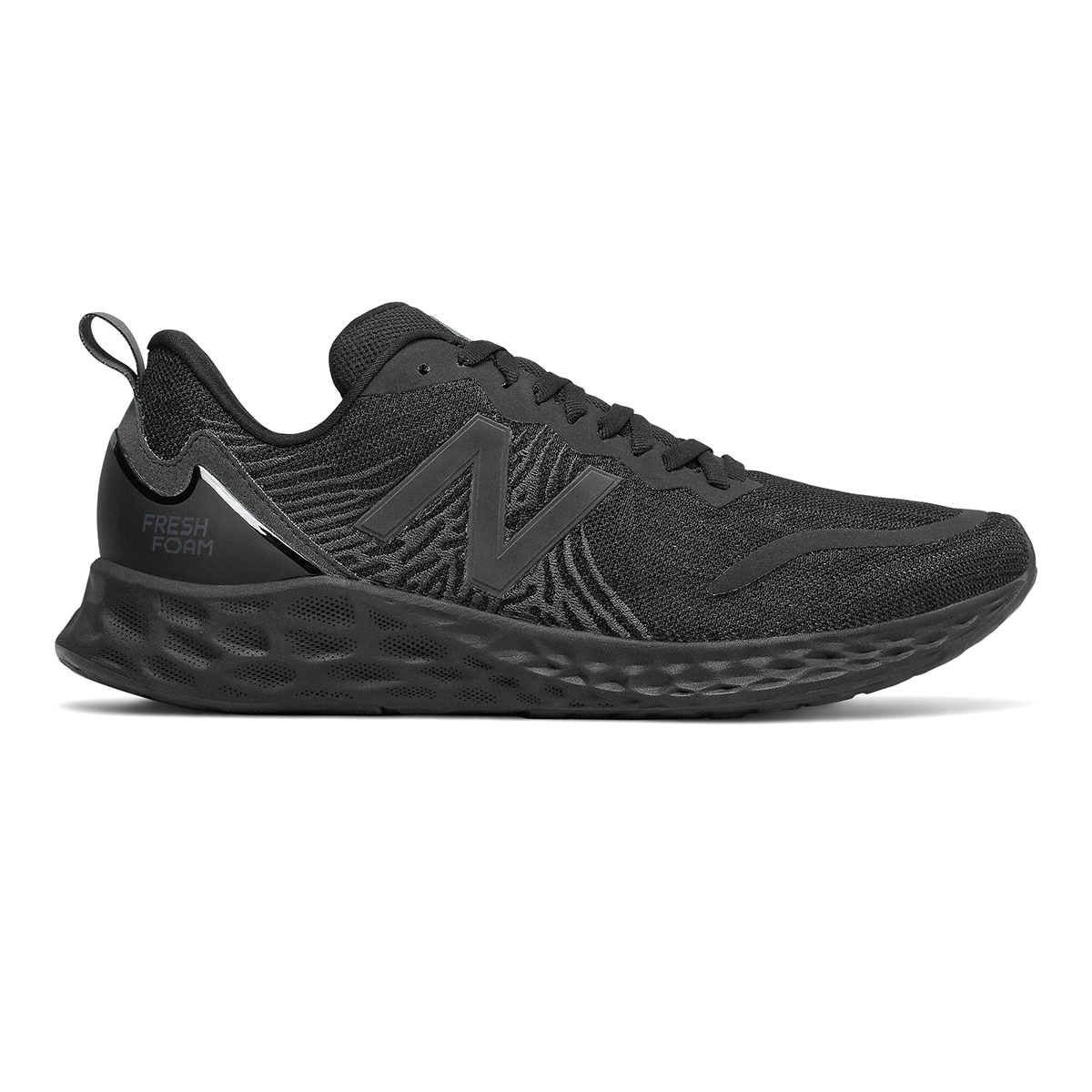 Men's New Balance Tempo Running Shoe - Color: Black - Size: 9 - Width: Wide, Black, large, image 1