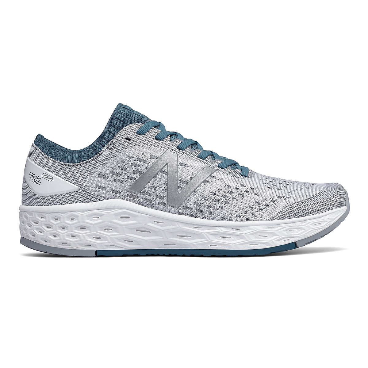 Men's New Balance Vongo V4 Running Shoe - Color: White - Size: 8 - Width: Regular, White, large, image 1