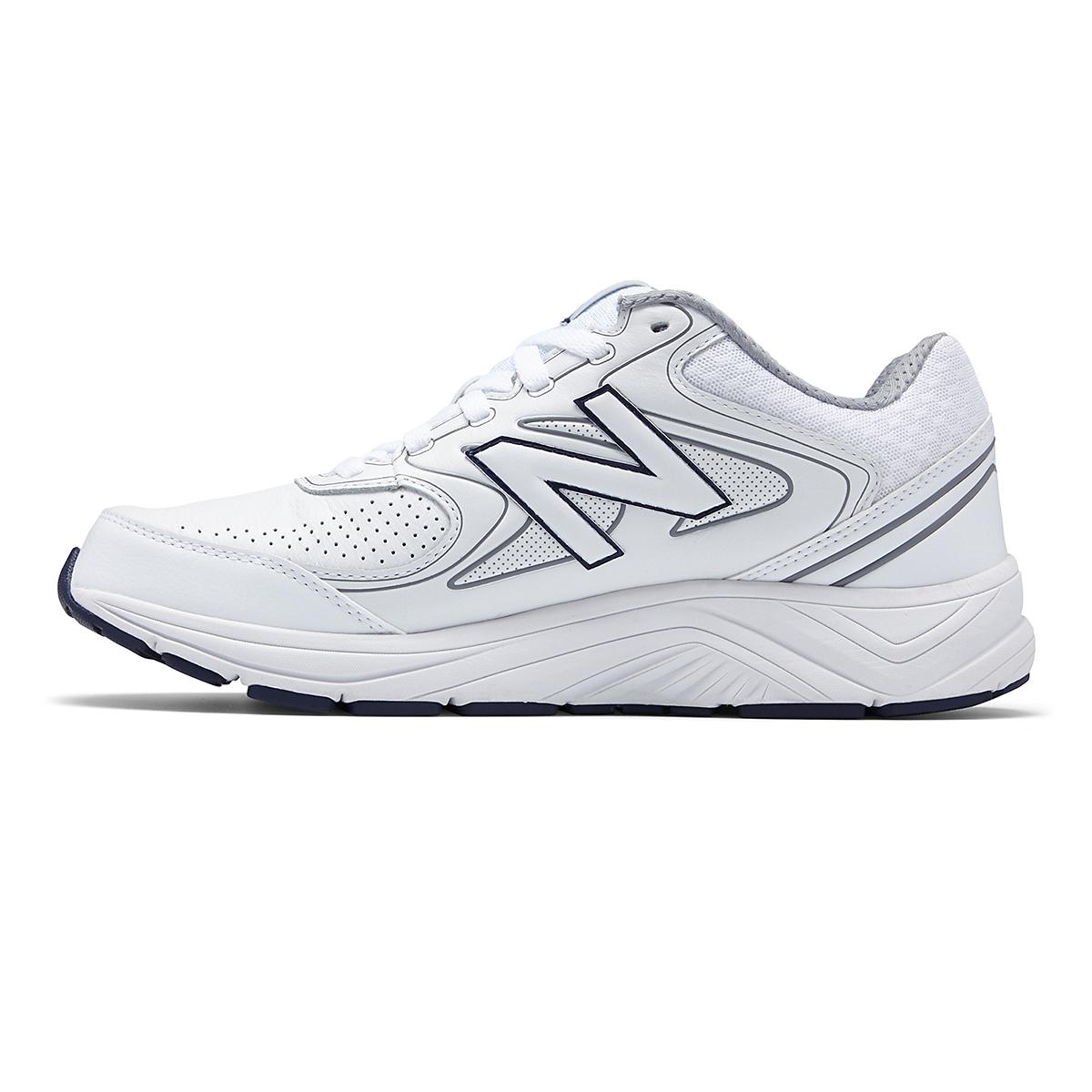 Men's New Balance 840v2 Leather Walking Shoe - Color: White/Navy - Size: 7 - Width: Wide, White/Navy, large, image 2