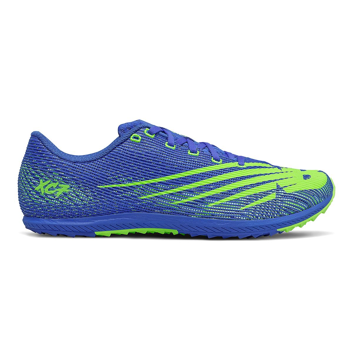 Men's New Balance XC Seven v3 Spikeless Shoe - Color: Cobalt/Energy Lime - Size: 7 - Width: Regular, Cobalt/Energy Lime, large, image 1