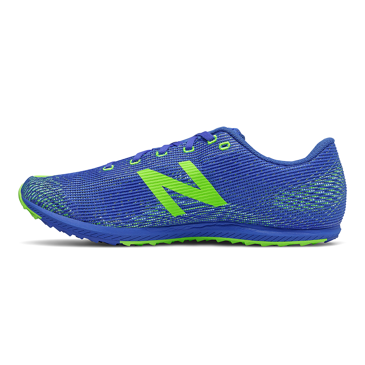 Men's New Balance XC Seven v3 Spikeless Shoe - Color: Cobalt/Energy Lime - Size: 7 - Width: Regular, Cobalt/Energy Lime, large, image 2