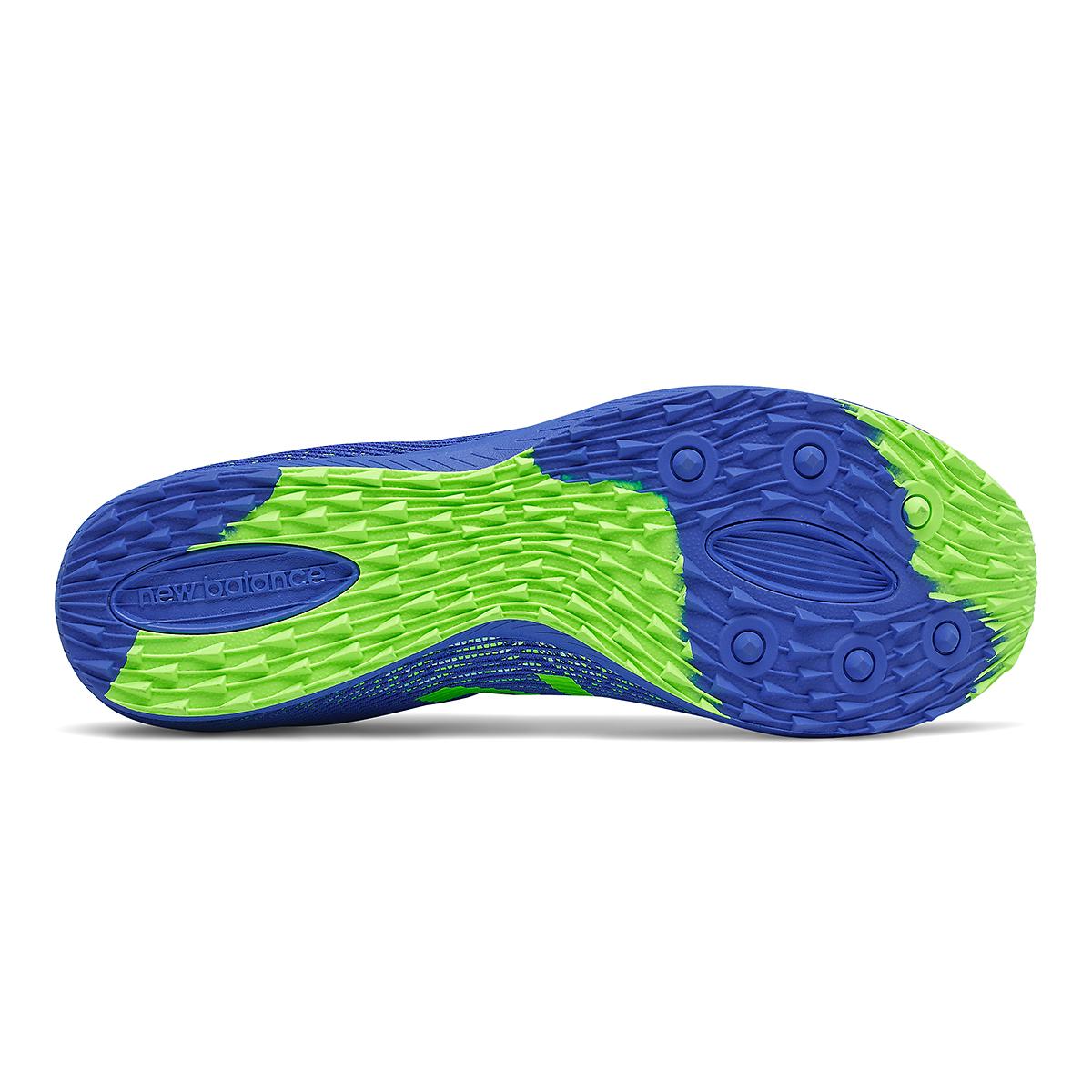 Men's New Balance XC Seven v3 Spikeless Shoe - Color: Cobalt/Energy Lime - Size: 7 - Width: Regular, Cobalt/Energy Lime, large, image 4