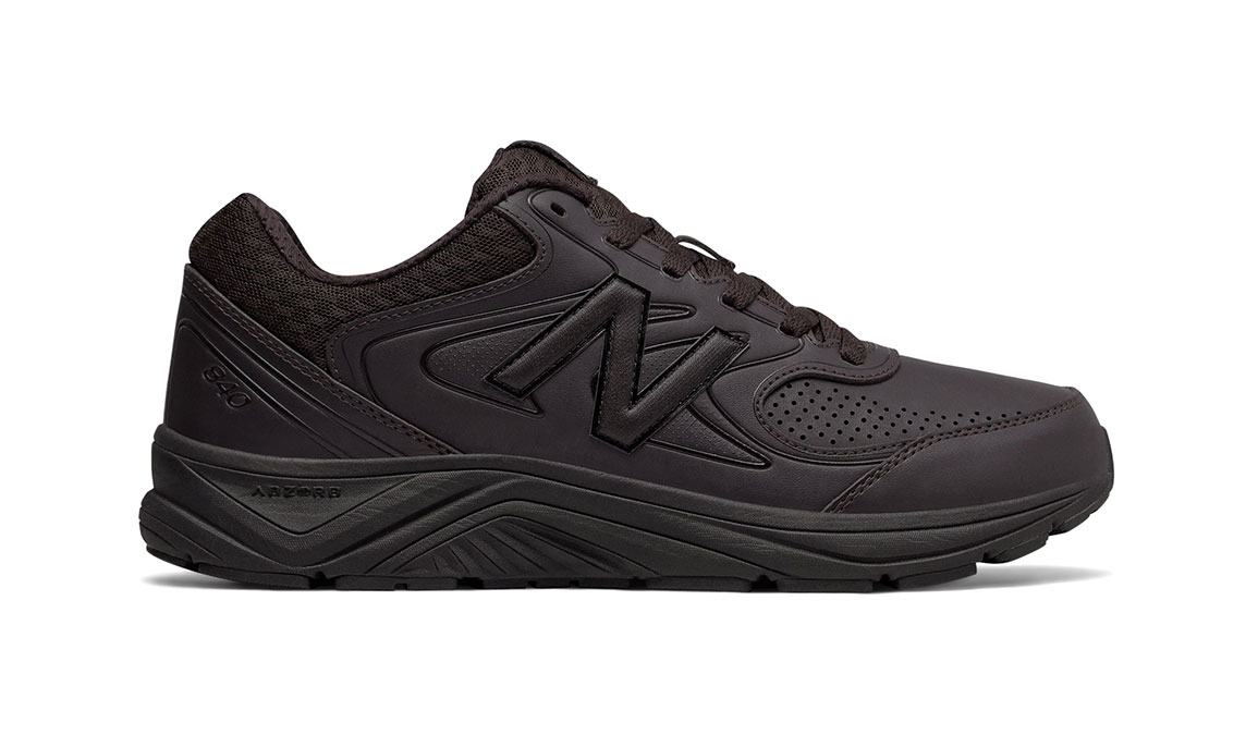 Men's New Balance 840v2 Leather Walking Shoe - Color: Brown (Wide Width) - Size: 9.5, Brown, large, image 1