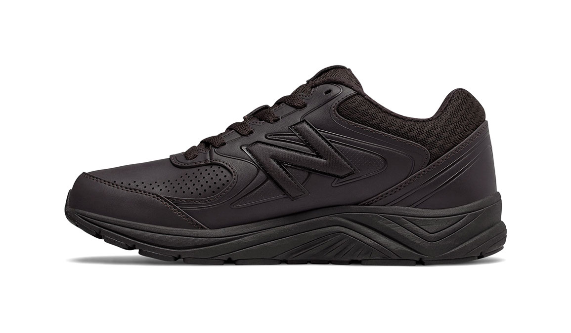 Men's New Balance 840v2 Leather Walking Shoe - Color: Brown (Wide Width) - Size: 9.5, Brown, large, image 2
