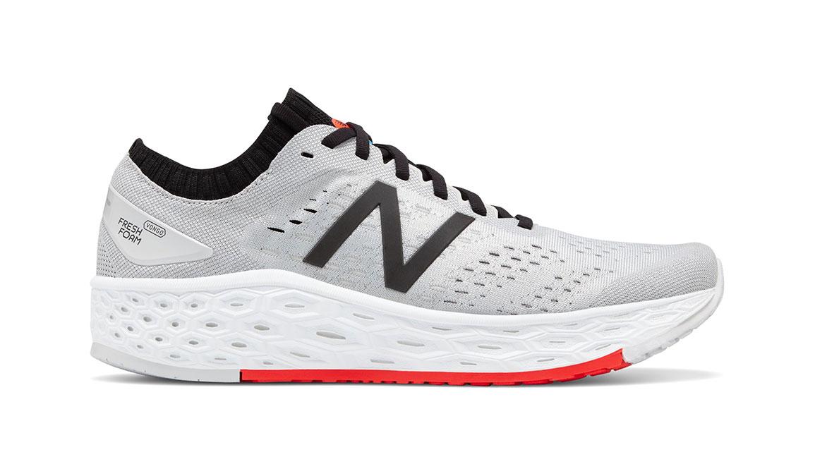 Men's New Balance Vongo V4 Running Shoe - Color: Light Aluminum/Red (Regular Width) - Size: 7.5, Silver/Red, large, image 1