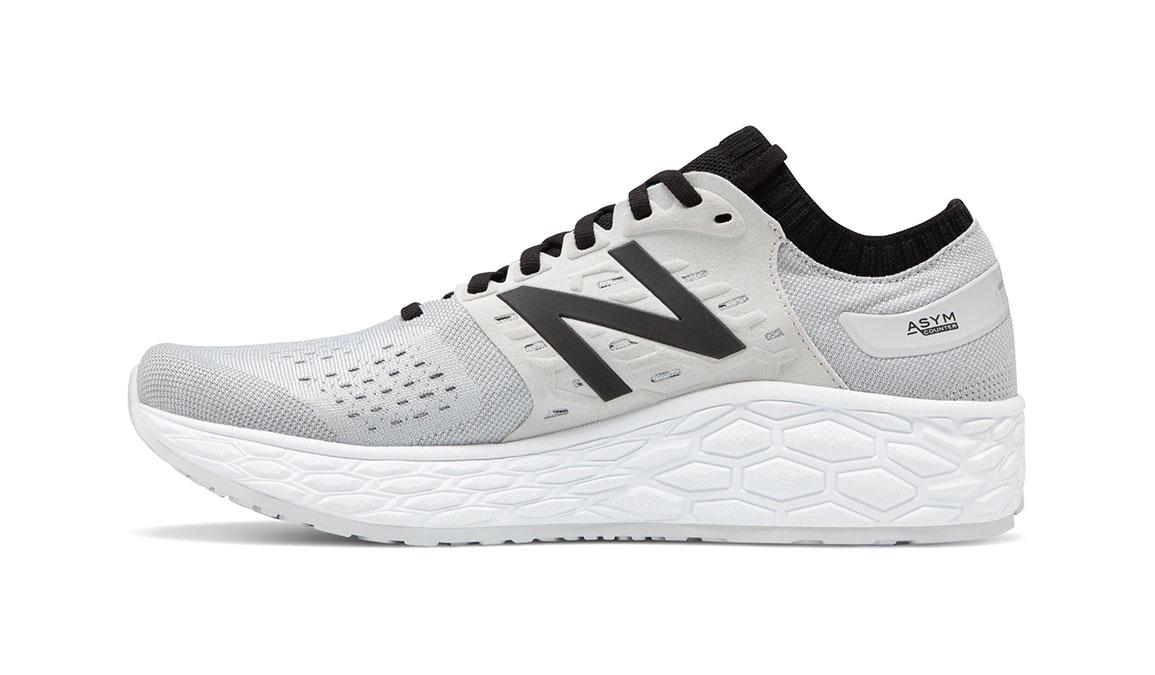 Men's New Balance Vongo V4 Running Shoe - Color: Light Aluminum/Red (Regular Width) - Size: 7.5, Silver/Red, large, image 2