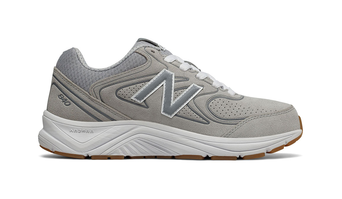 Women's New Balance 840v2 Suede Walking Shoe - Color: Grey (Extra Wide Width) - Size: 8, Grey, large, image 1