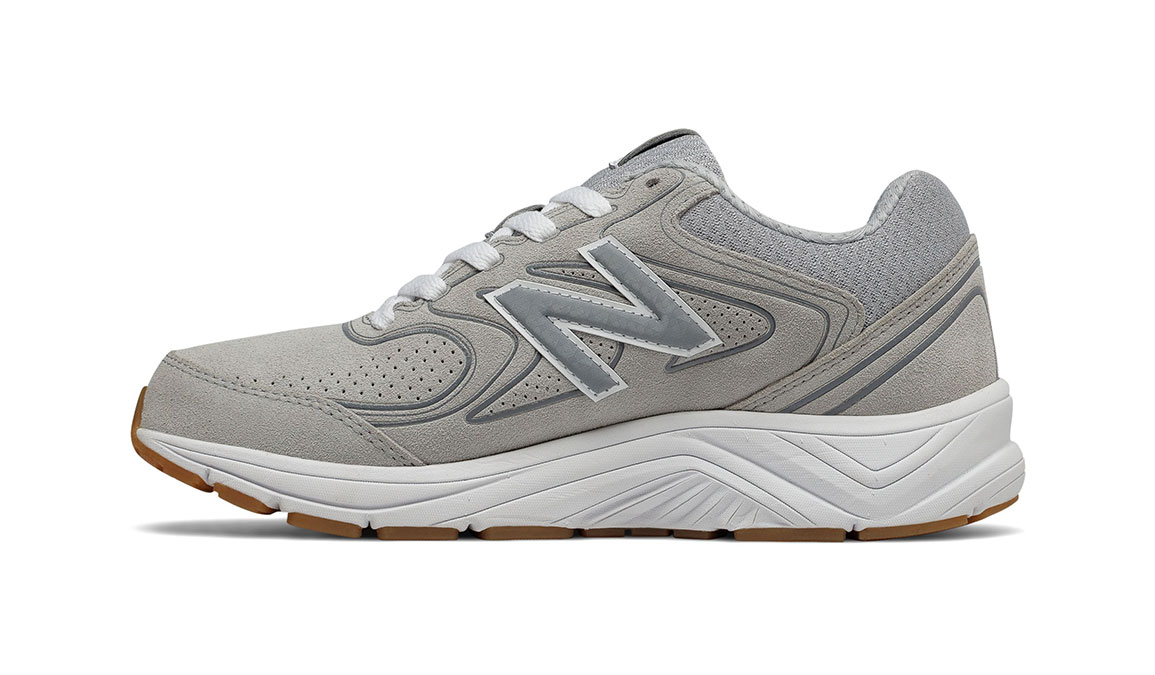 Women's New Balance 840v2 Suede Walking Shoe - Color: Grey (Extra Wide Width) - Size: 8, Grey, large, image 2