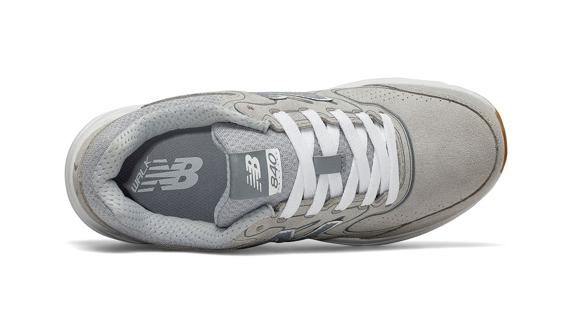 Women's New Balance 840v2 Suede Walking Shoe - Color: Grey (Extra Wide Width) - Size: 8, Grey, large, image 3