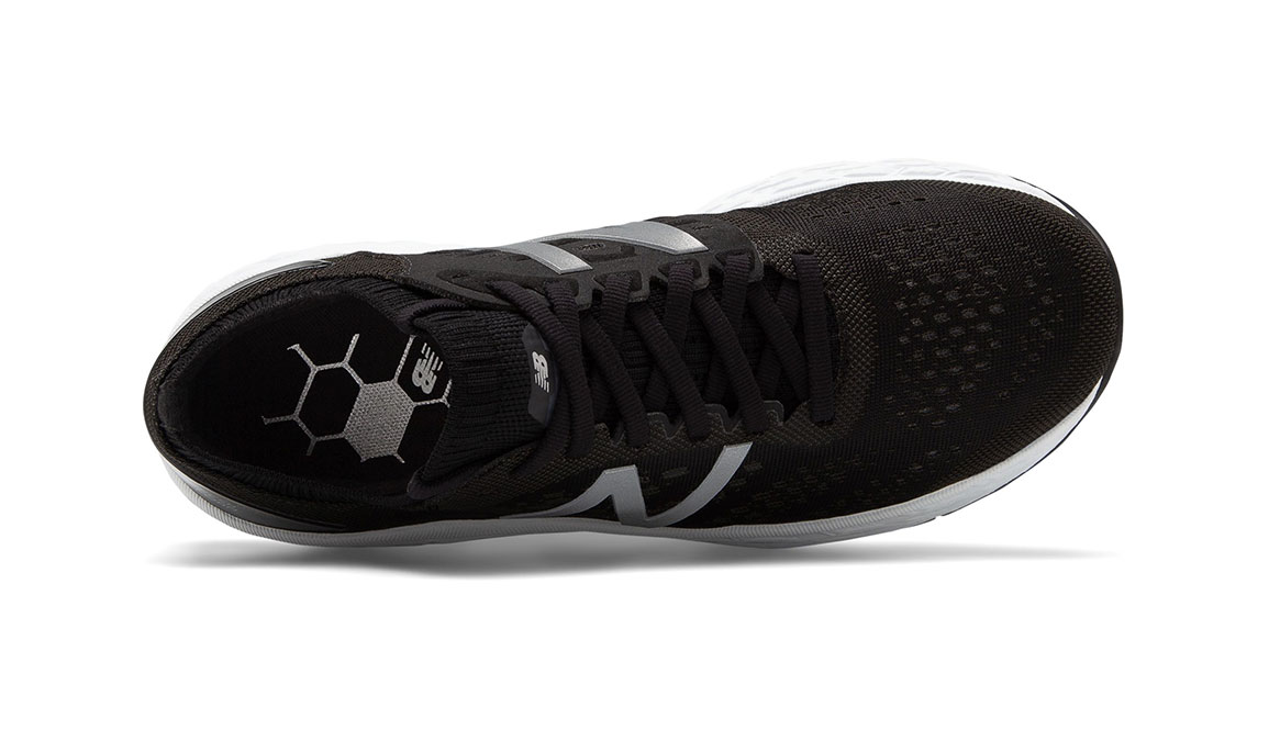 Women's New Balance Vongo V4 Running Shoe - Color: Black/White (Regular Width) - Size: 7, Black/White, large, image 3