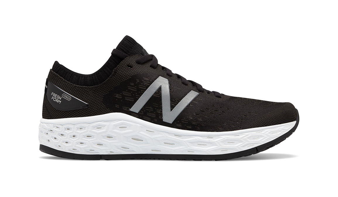 Women's New Balance Vongo V4 Running Shoe - Color: Black/White (Regular Width) - Size: 7, Black/White, large, image 1