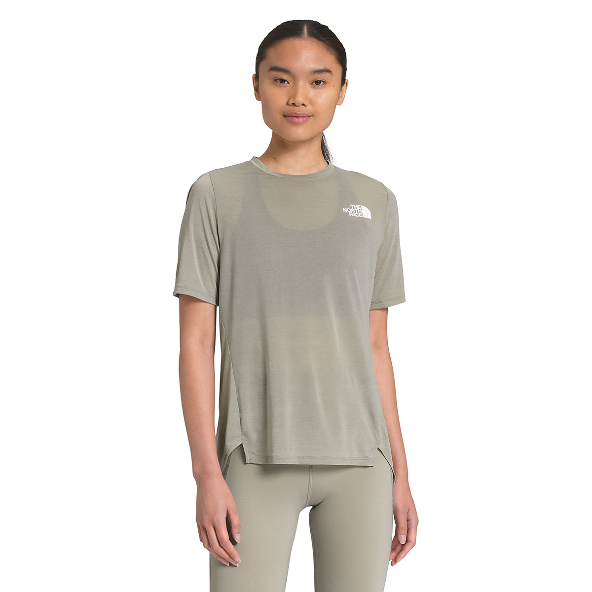 Women's The North Face Up With The Sun Short Sleeve Shirt - Color: Mineral Grey - Size: XS, Mineral Grey, large, image 1