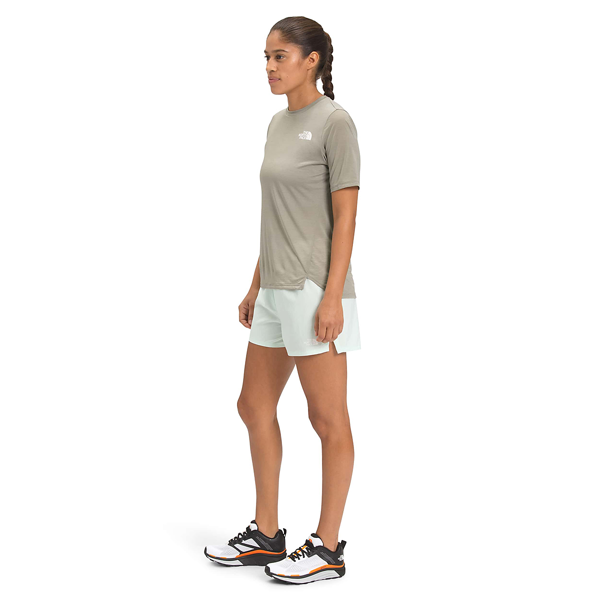 Women's The North Face Up With The Sun Short Sleeve Shirt - Color: Mineral Grey - Size: XS, Mineral Grey, large, image 2