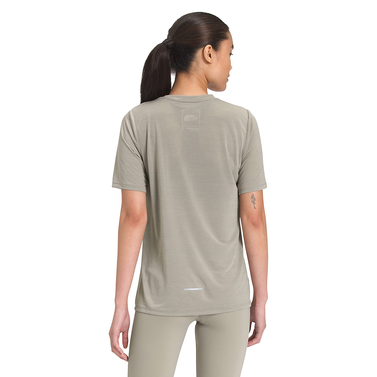 Women's The North Face Up With The Sun Short Sleeve Shirt - Color: Mineral Grey - Size: XS, Mineral Grey, large, image 3