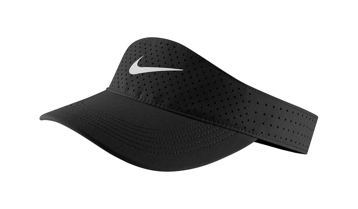 Nike AeroBill Visor - Color: Black/White Size: OS, Black/White, large, image 1