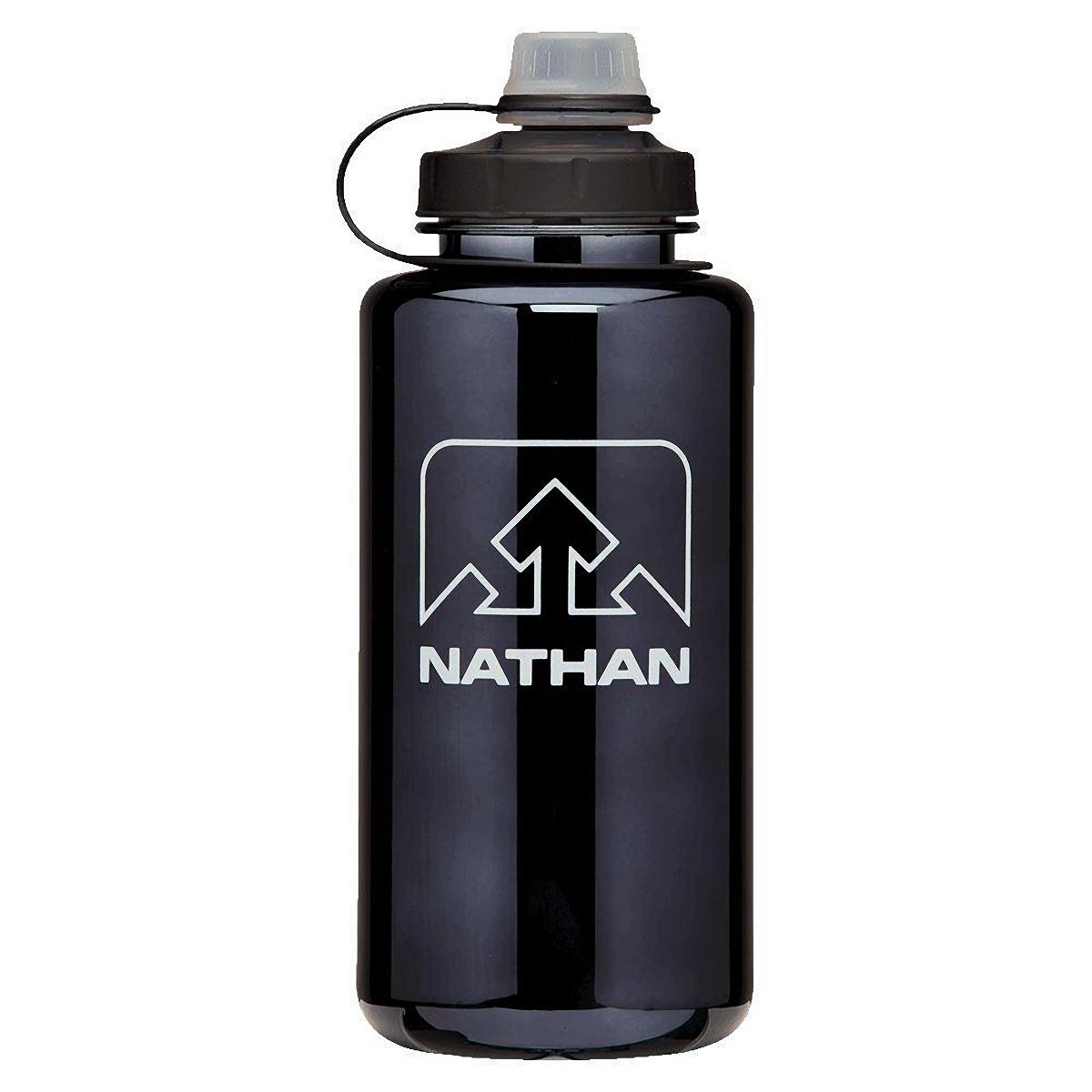 Nathan Bigshot 1 L Hydration Bottle - Color: Black/White - Size: One Size, Black/White, large, image 1