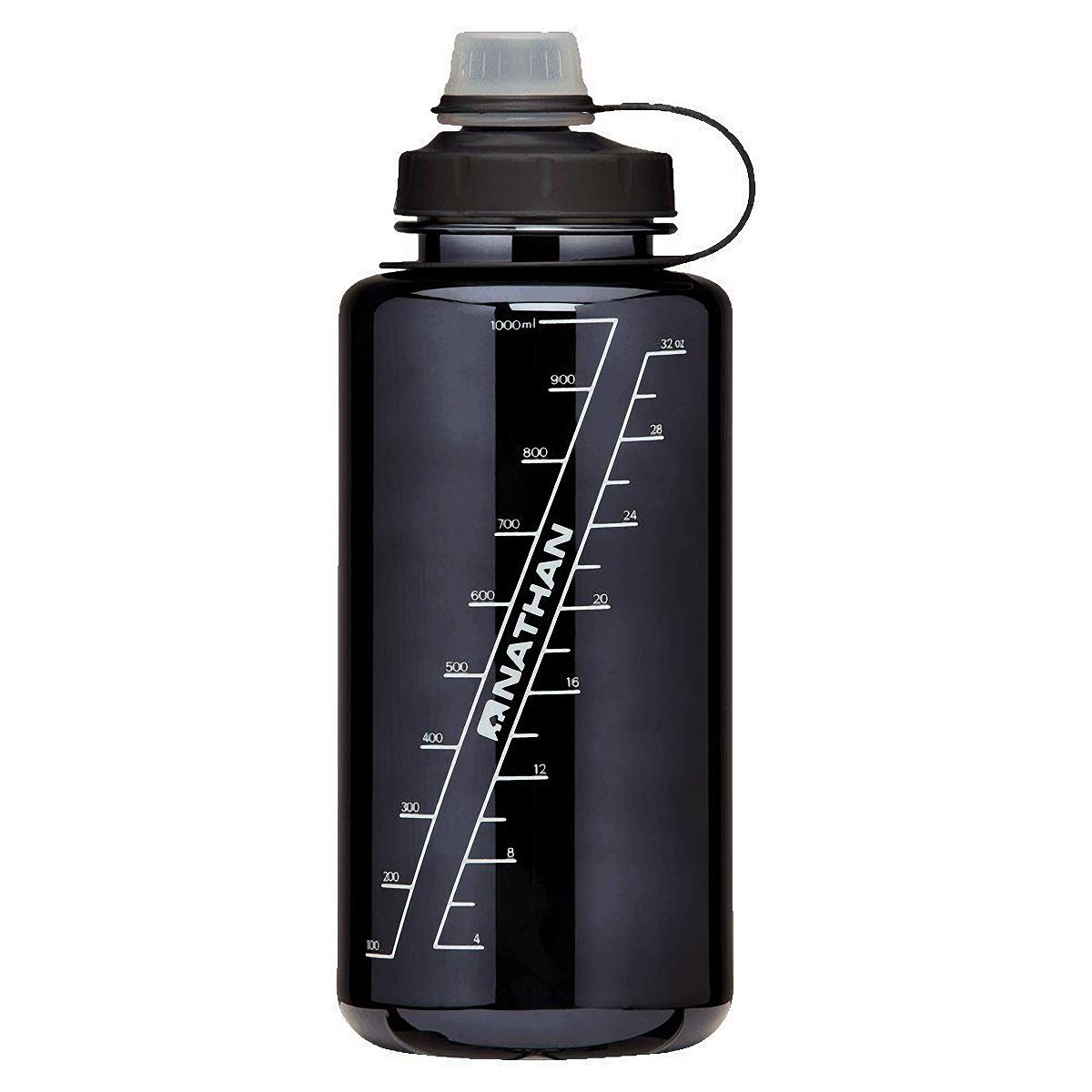 Nathan Bigshot 1 L Hydration Bottle - Color: Black/White - Size: One Size, Black/White, large, image 2