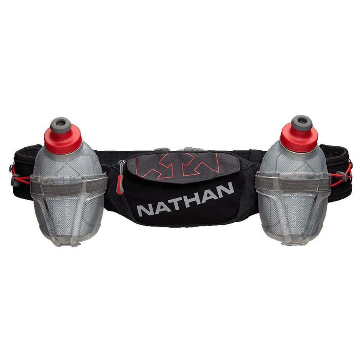Nathan Trailmix Plus Insulated Hydration Belt - Color: Black/High Risk Red - Size: One Size, Black/High Risk Red, large, image 1