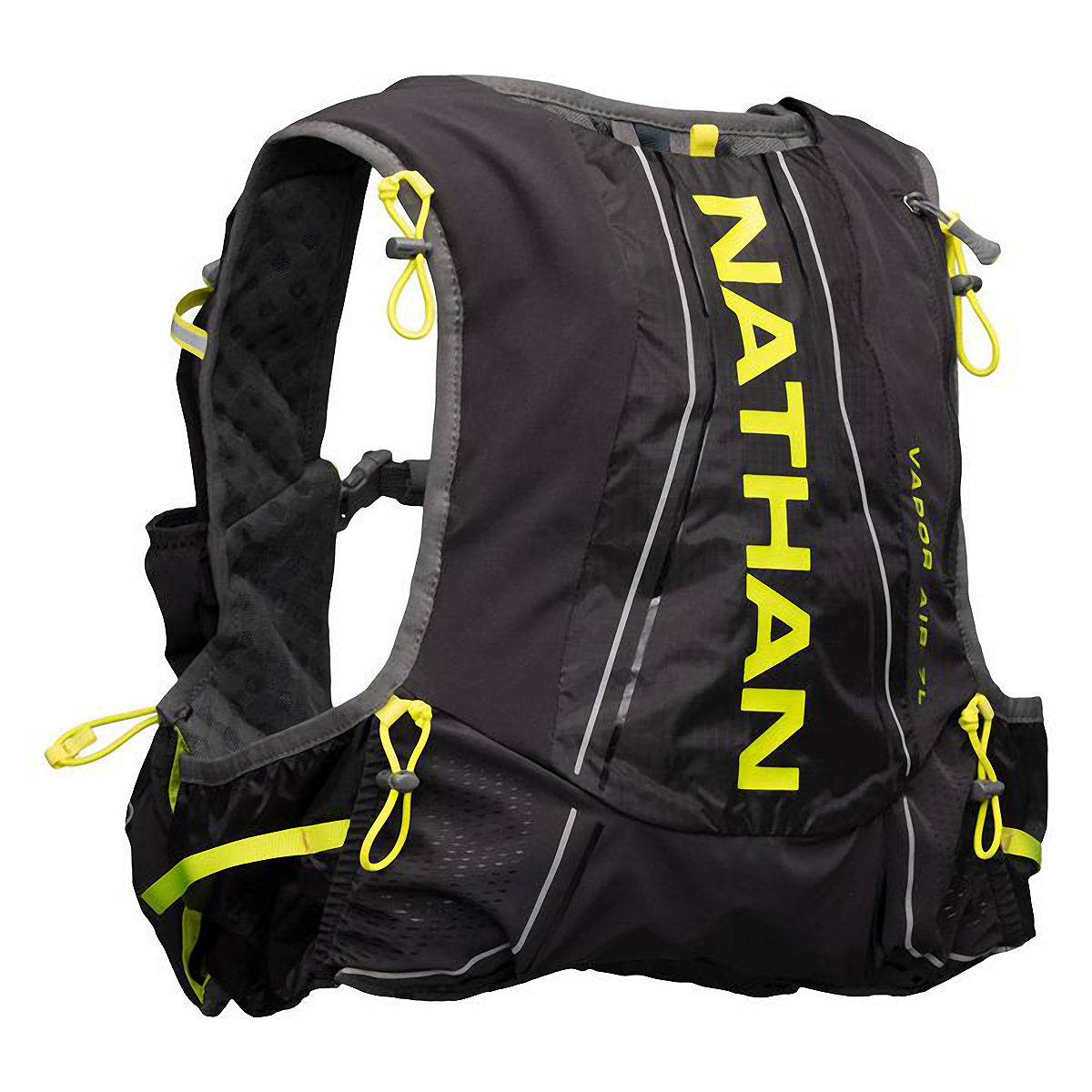 Nathan Vaporair 2.0 7 Liter Hydration Pack - Color: Black Charcoal/Nuclear Yellow - Size: XS-M, Black Charcoal/Nuclear Yellow, large, image 1