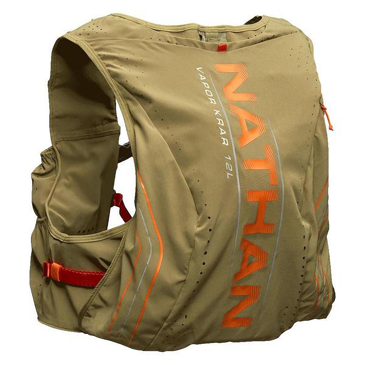 Men's Nathan Vaporkrar 2.0 12 L Race Vest - Color: Mosstone/Exuberance - Size: S, Mosstone/Exuberance, large, image 2