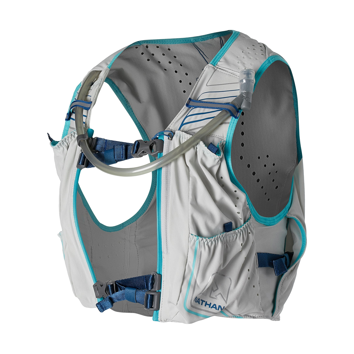 Women's Nathan Vaporhowe 2.0 12 Liter Race Vest - Color: Vapor Blue/True Navy - Size: XS, Vapor Blue/True Navy, large, image 1