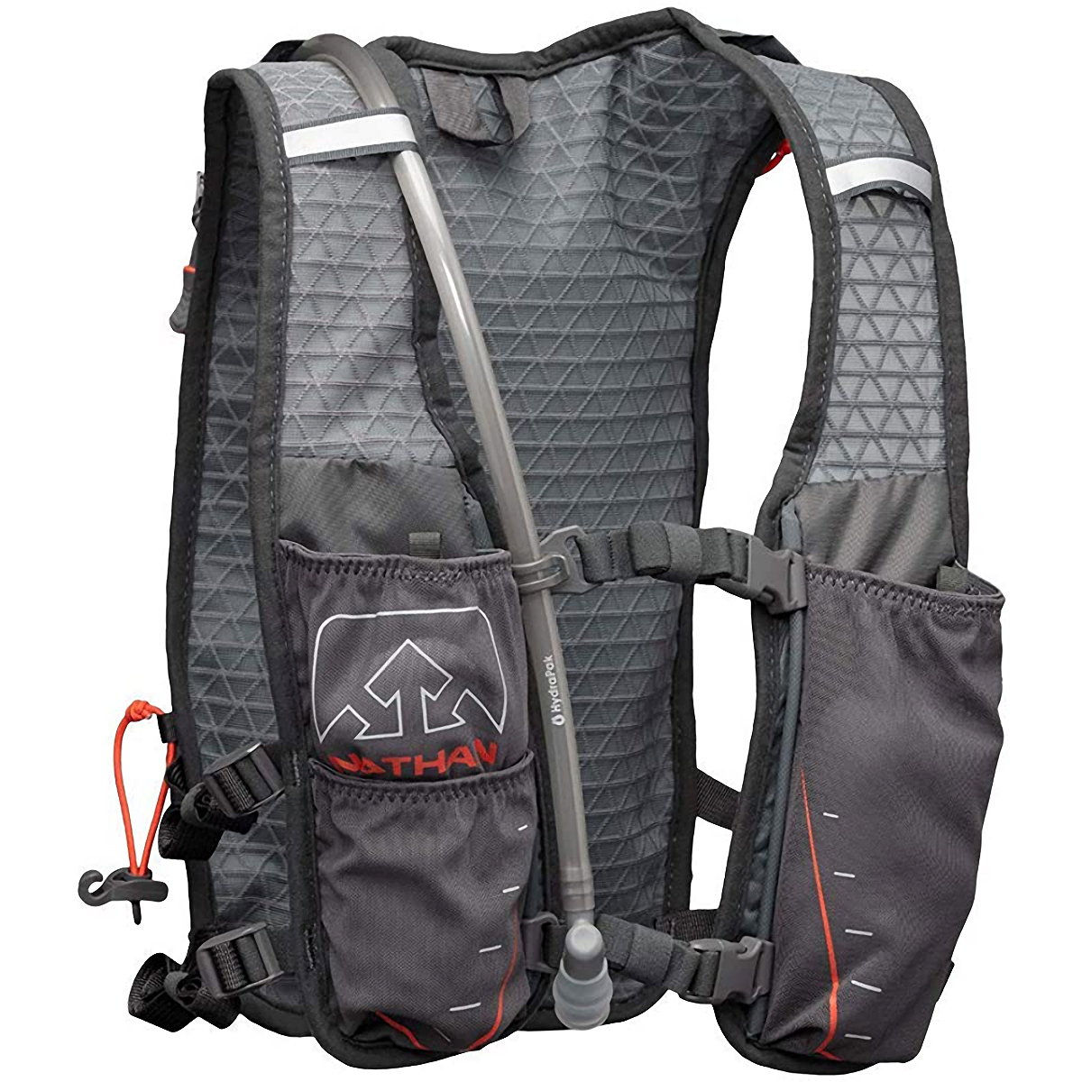 Nathan Trailmix 7 Liter Race Pack - Color: Charcoal/Steel Grey/Cherry Tomato - Size: One Size, Charcoal/Steel Grey/Cherry Tomato, large, image 1