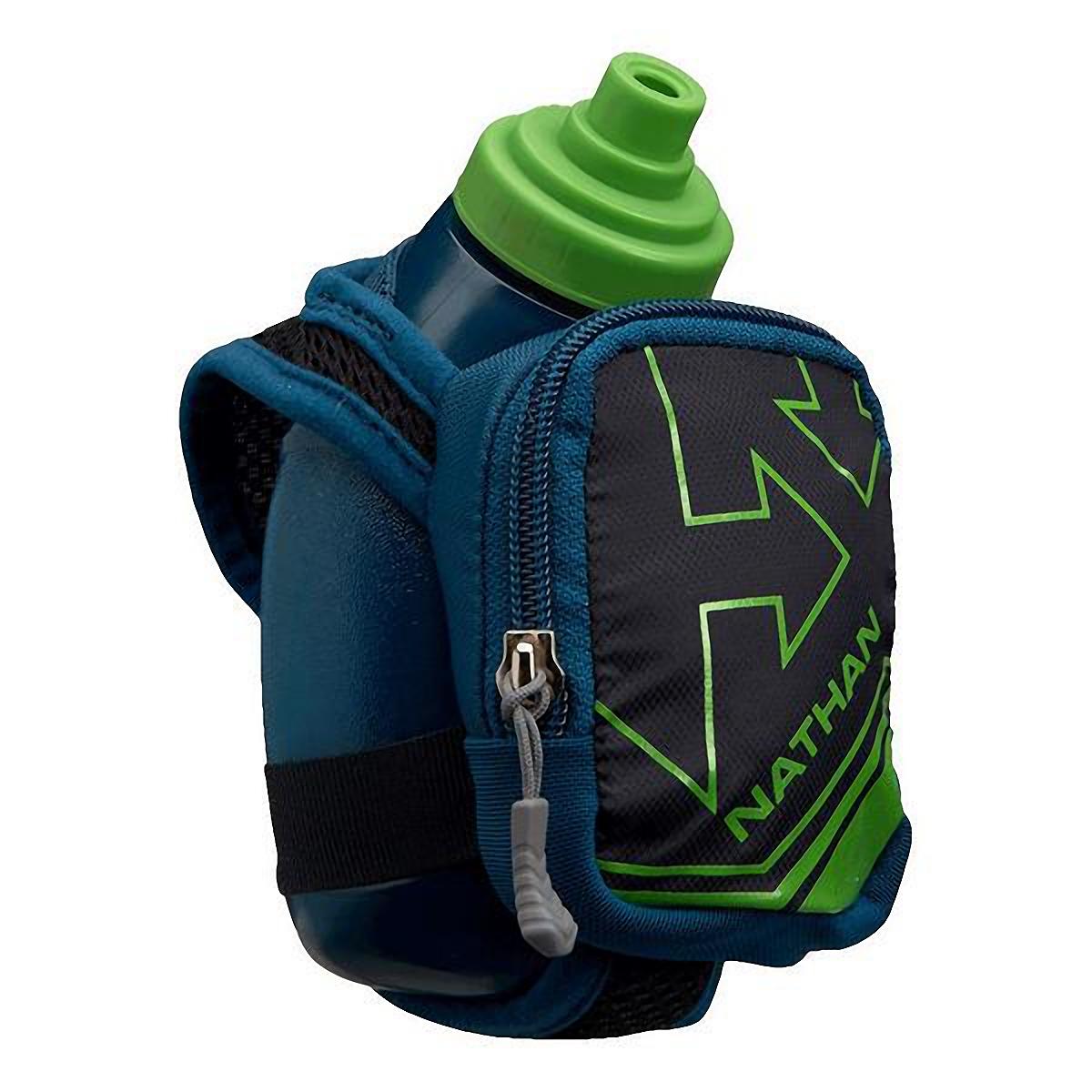 Nathan Quickshot Plus Hydration Flask - Color: Black/Classic Green - Size: One Size, Black/Classic Green, large, image 1