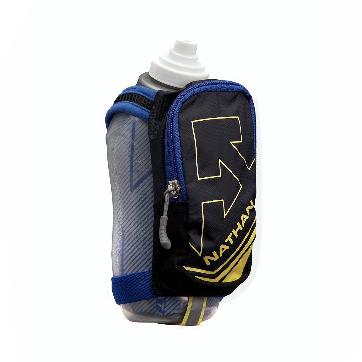 Nathan SpeedDraw Plus Insulated Flask - Color: Black - Size: One Size, Black/Yellow/Grey, large, image 1