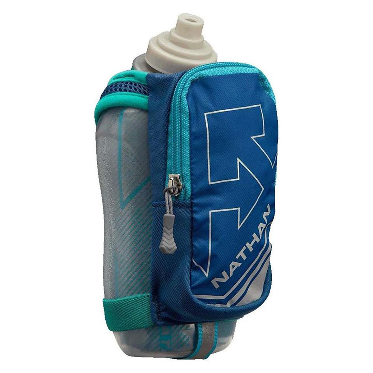 Nathan SpeedDraw Plus Insulated 18oz Water Bottle - Color: Castle Rock/Green - Size: OS, Castle Rock/Green, large, image 1