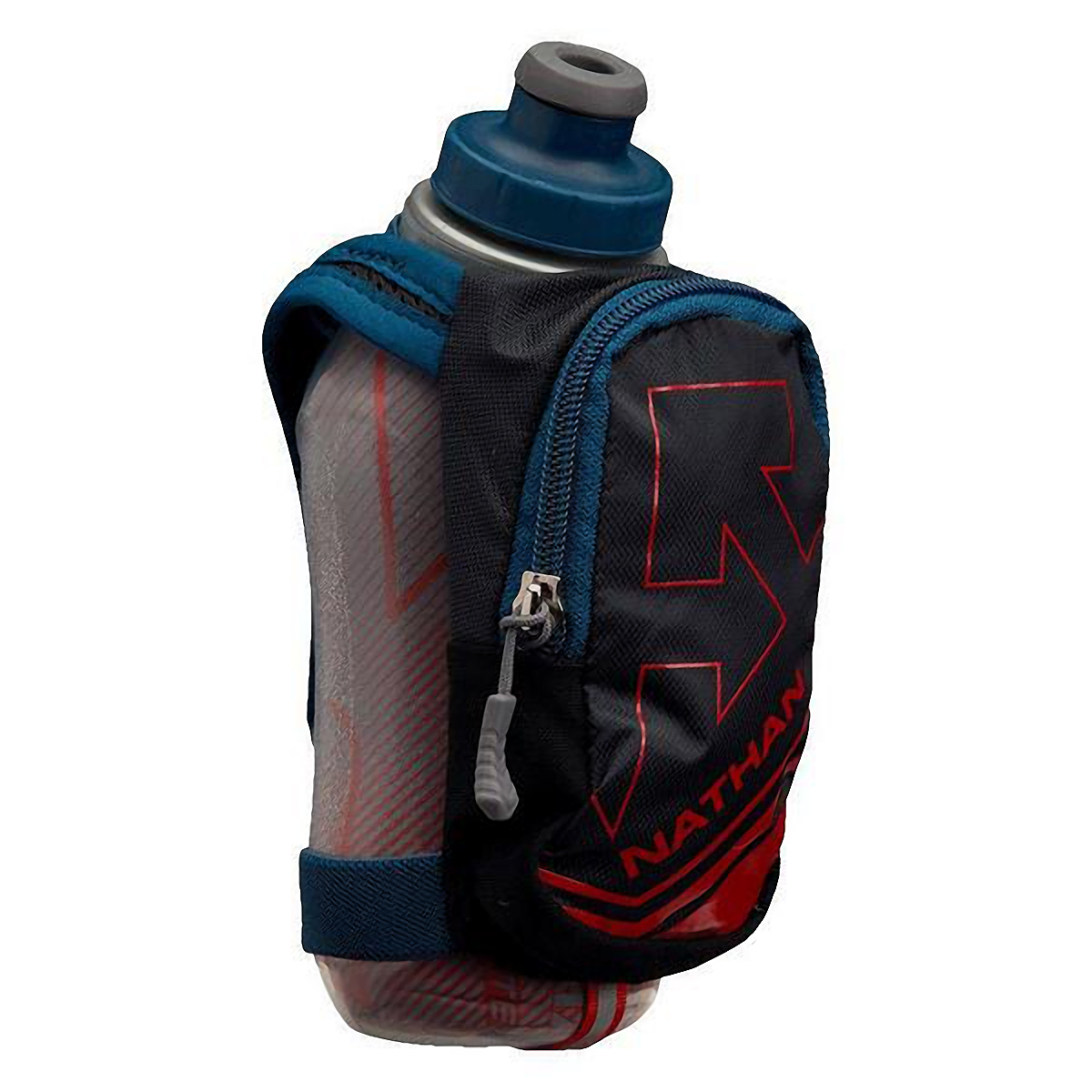 Nathan Speedshot Plus Insulated Flask  - Color: Black/High Risk Red - Size: One Size, Black/High Risk Red, large, image 1