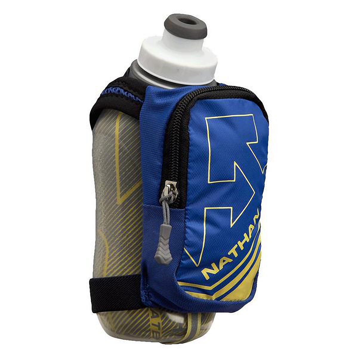 Nathan Speedshot Plus Insulated Flask - Color: Deep Ultramarine/Limelight - Size: One Size, Deep Ultramarine/Limelight, large, image 1