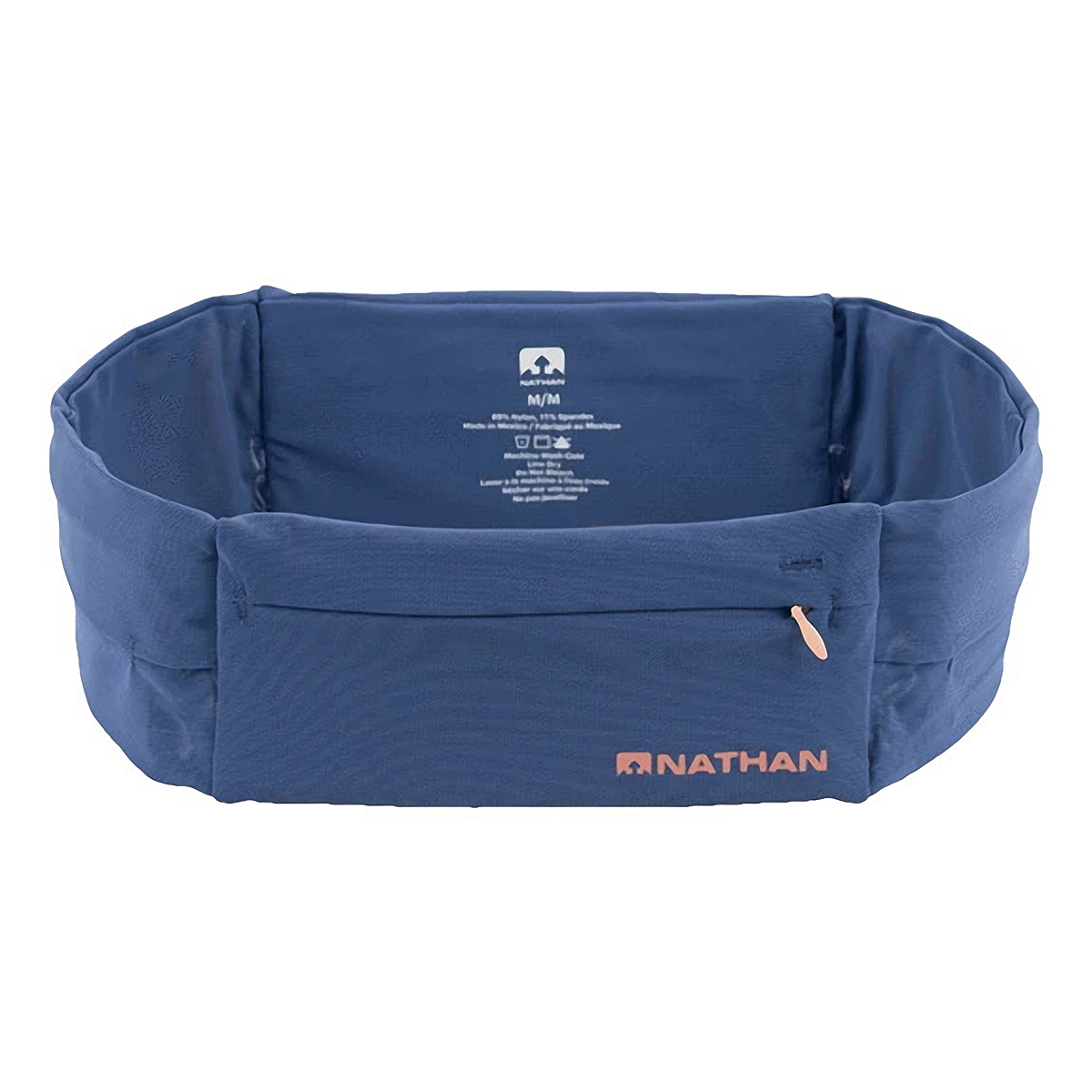 Nathan The Zipster Lite Training Waist Belt - Color: True Navy/Rose - Size: XS - Width:, True Navy/Rose, large, image 1