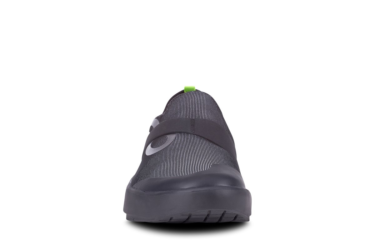 Men's Oofos OOmg Fibre Slip-On Recovery Shoe - Color: Black/Grey (Regular Width) - Size: 12, Black/Grey, large, image 3