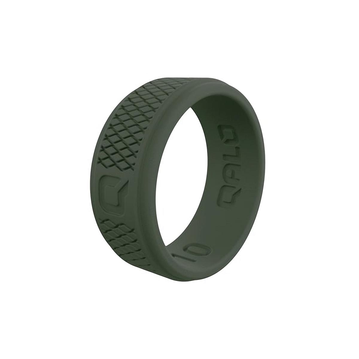 Men's Qalo Crosshatch Silicone Ring - Color: Sage - Size: 9, Sage, large, image 1