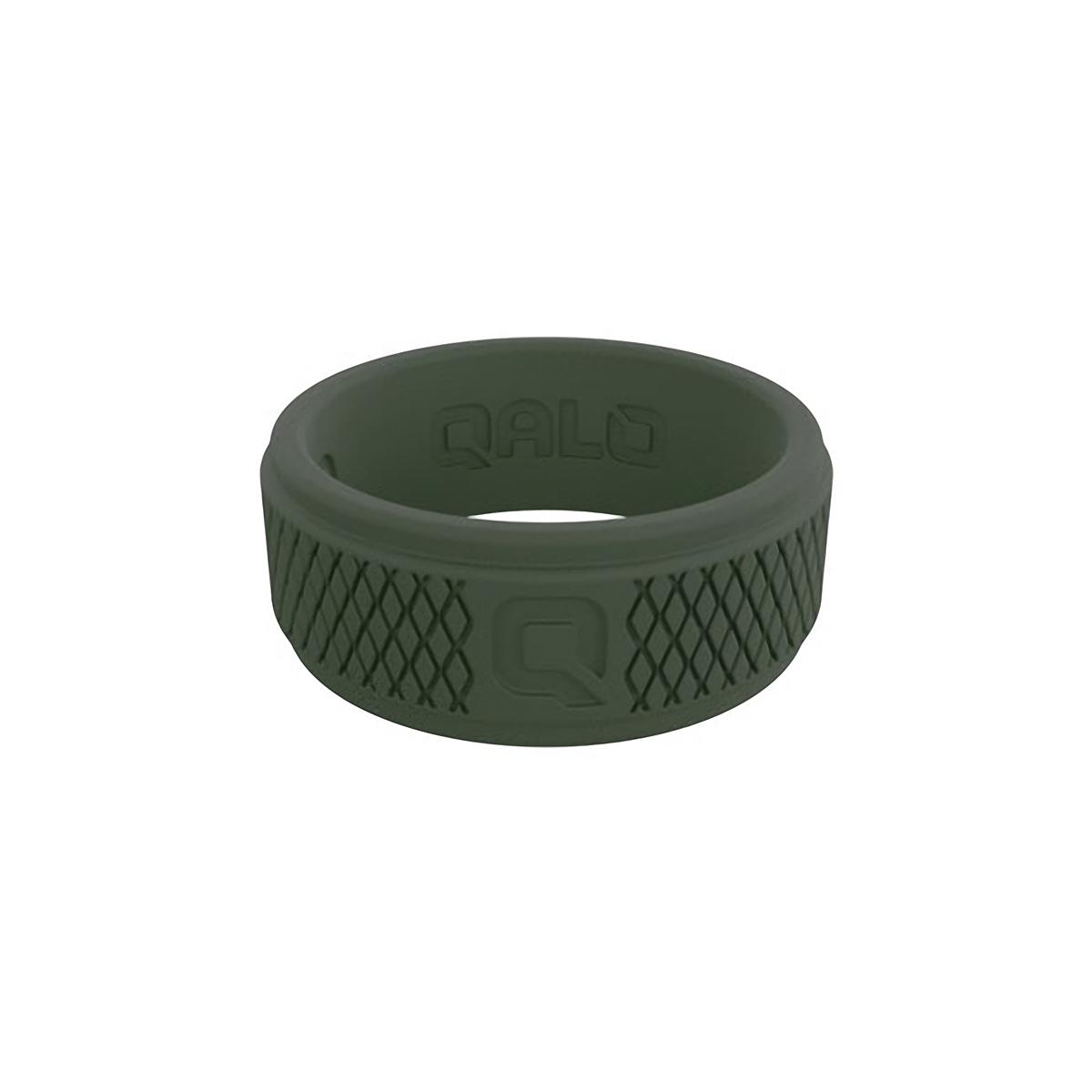 Men's Qalo Crosshatch Silicone Ring - Color: Sage - Size: 9, Sage, large, image 2