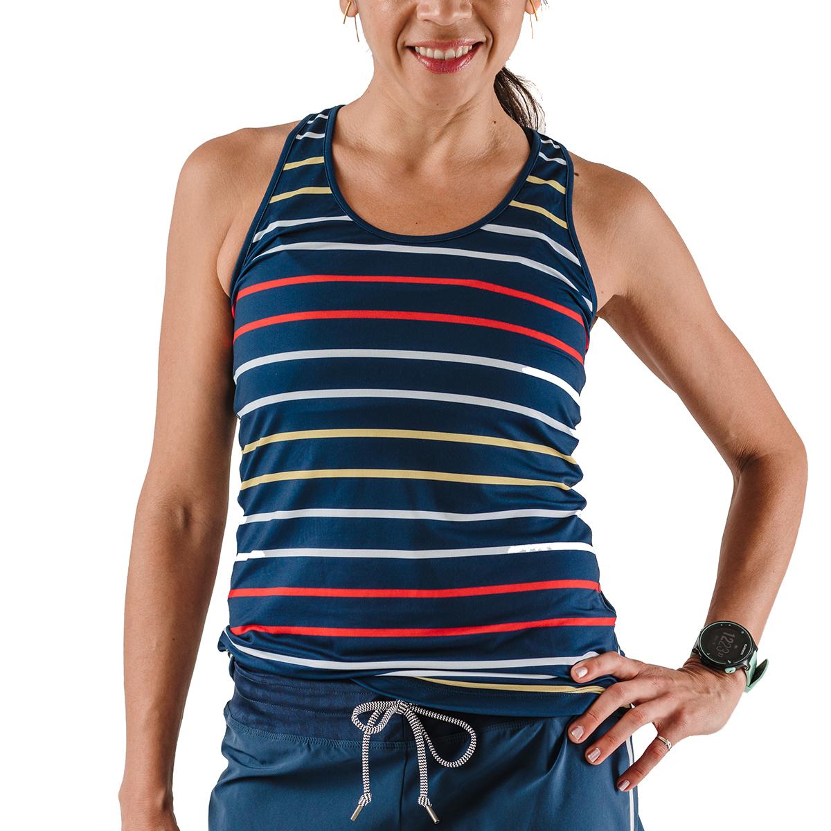 Women's Rabbit Bunny Hop Tank - Color: Dress Blues Stripe - Size: XS, Dress Blues Stripe, large, image 1