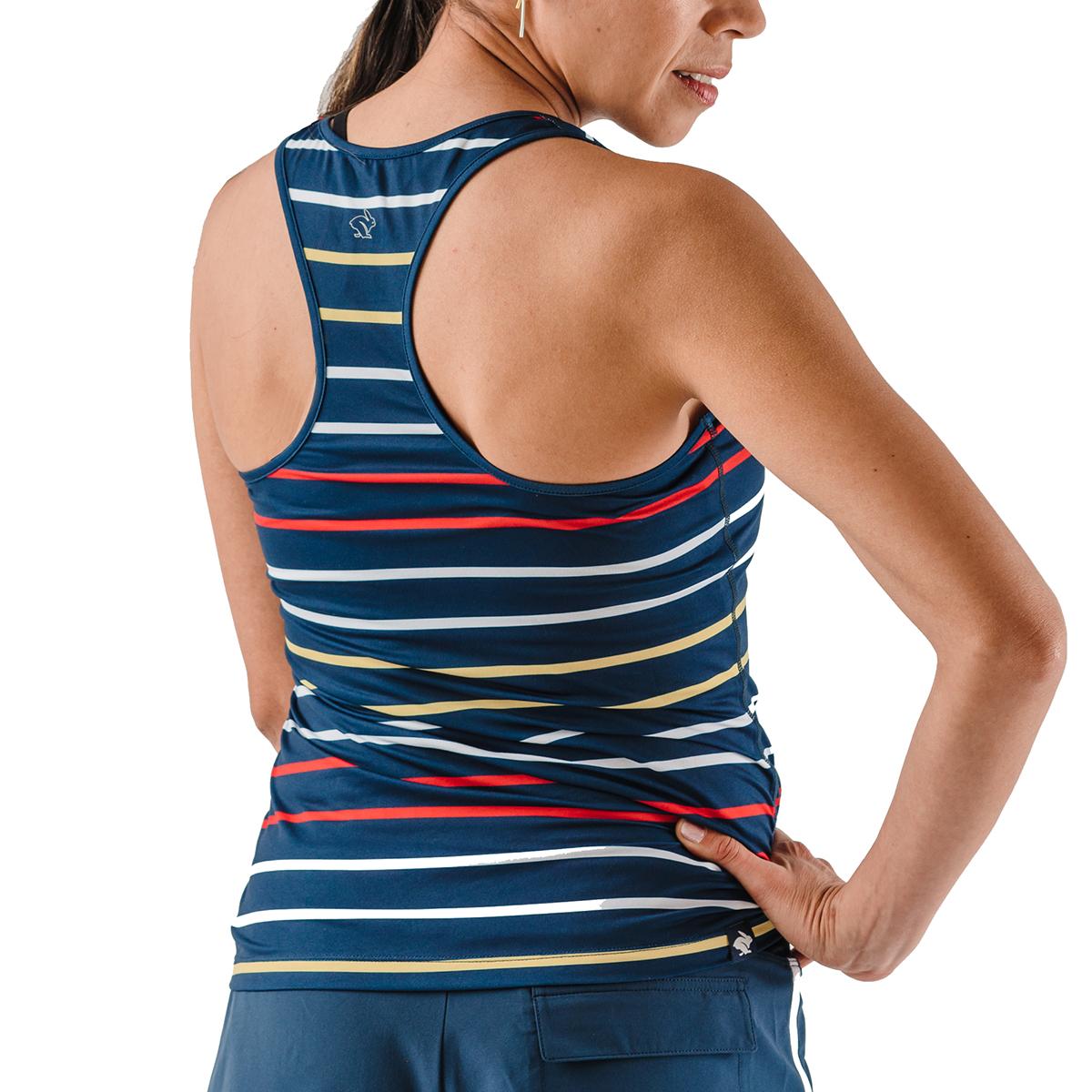 Women's Rabbit Bunny Hop Tank - Color: Dress Blues Stripe - Size: XS, Dress Blues Stripe, large, image 2