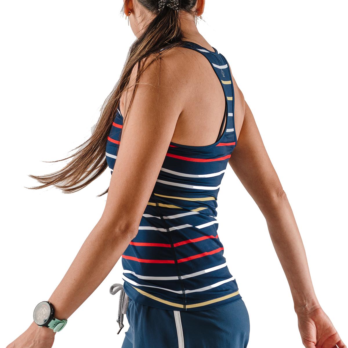 Women's Rabbit Bunny Hop Tank - Color: Dress Blues Stripe - Size: XS, Dress Blues Stripe, large, image 4