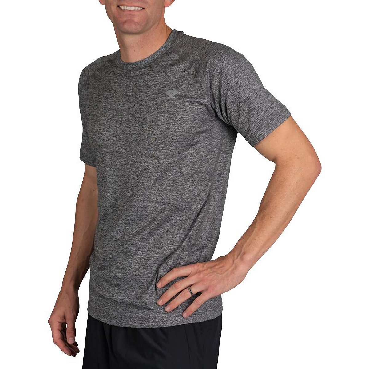 Men's Rabbit EZ Short Sleeve Tee - Color: Charcoal Heather - Size: XS, Charcoal Heather, large, image 3