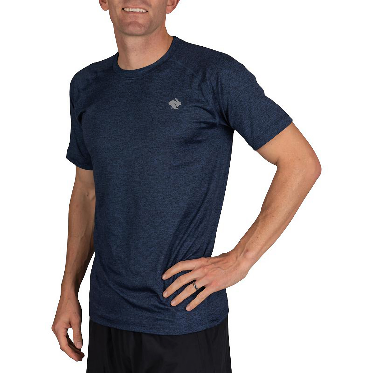 Men's Rabbit EZ Short Sleeve Tee - Color: Eclipse Heather - Size: XS, Eclipse Heather, large, image 2