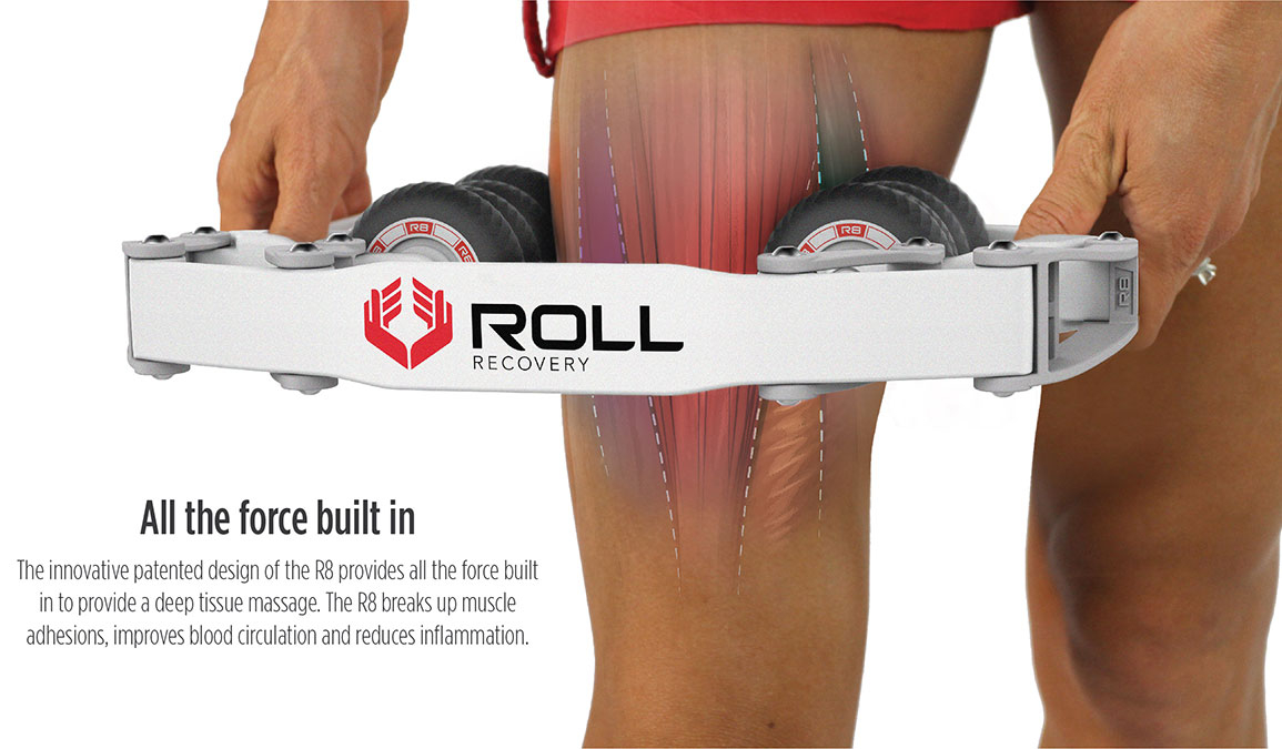Roll Recovery R8 Massage Roller - Color: Alpine White, White, large, image 6