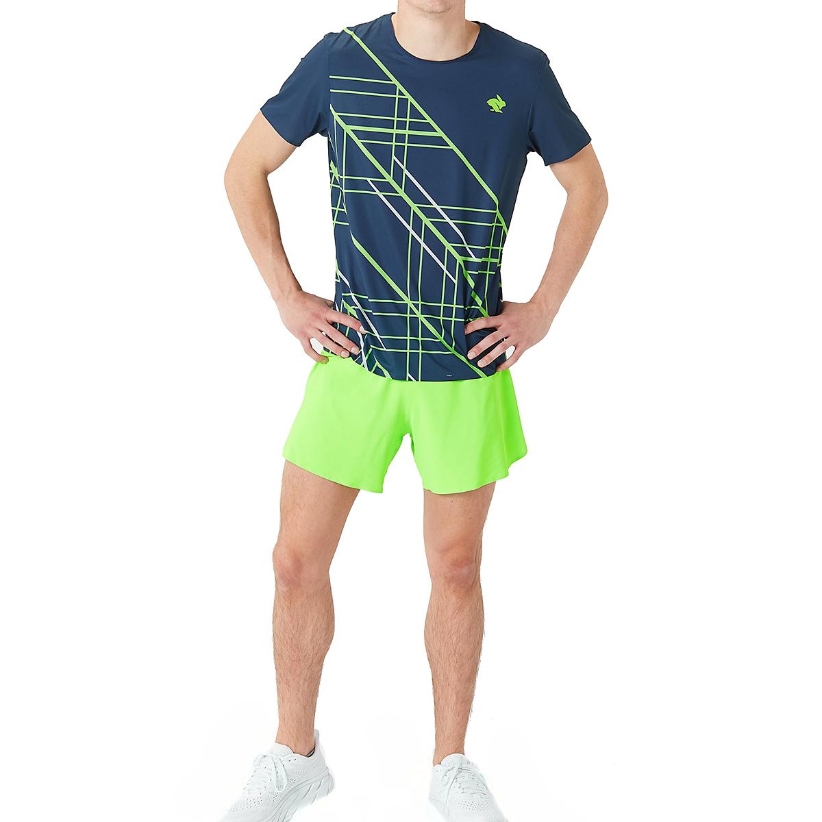Men's Rabbit Runtee Short Sleeve - Color: Dress Blues/Green Gecko - Size: XL, Dress Blues/Green Gecko, large, image 3
