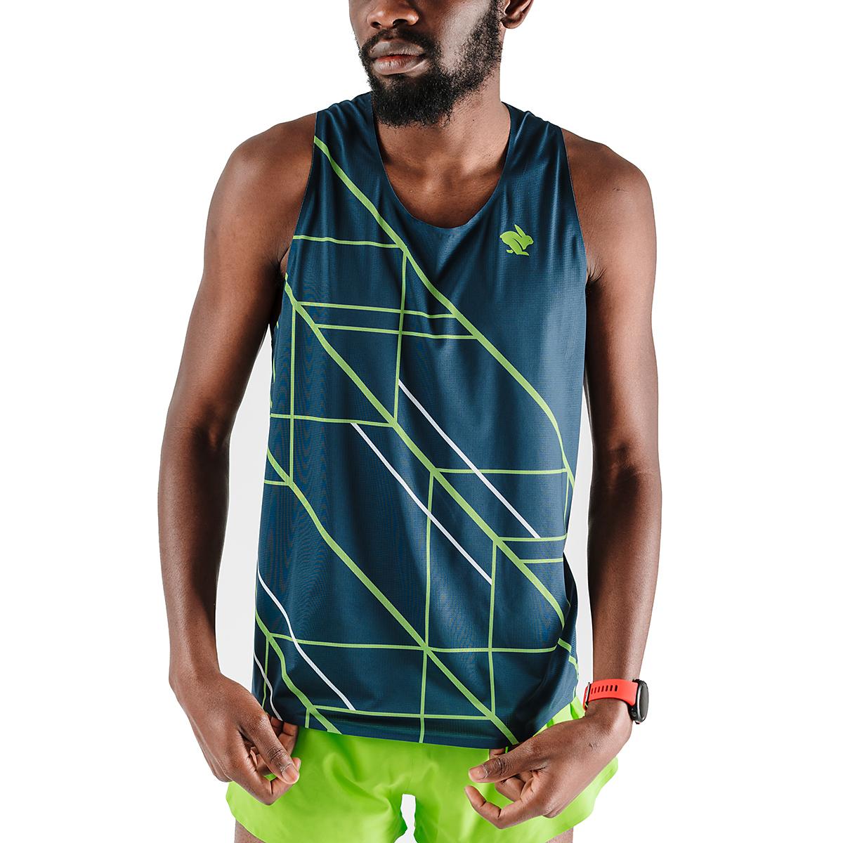 Men's Rabbit Speedeez Singlet - Color: Dress Blues/Green Gecko - Size: XS, Dress Blues/Green Gecko, large, image 1