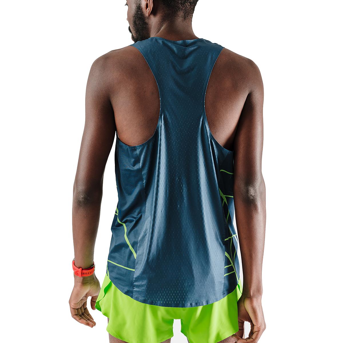 Men's Rabbit Speedeez Singlet - Color: Dress Blues/Green Gecko - Size: XS, Dress Blues/Green Gecko, large, image 2