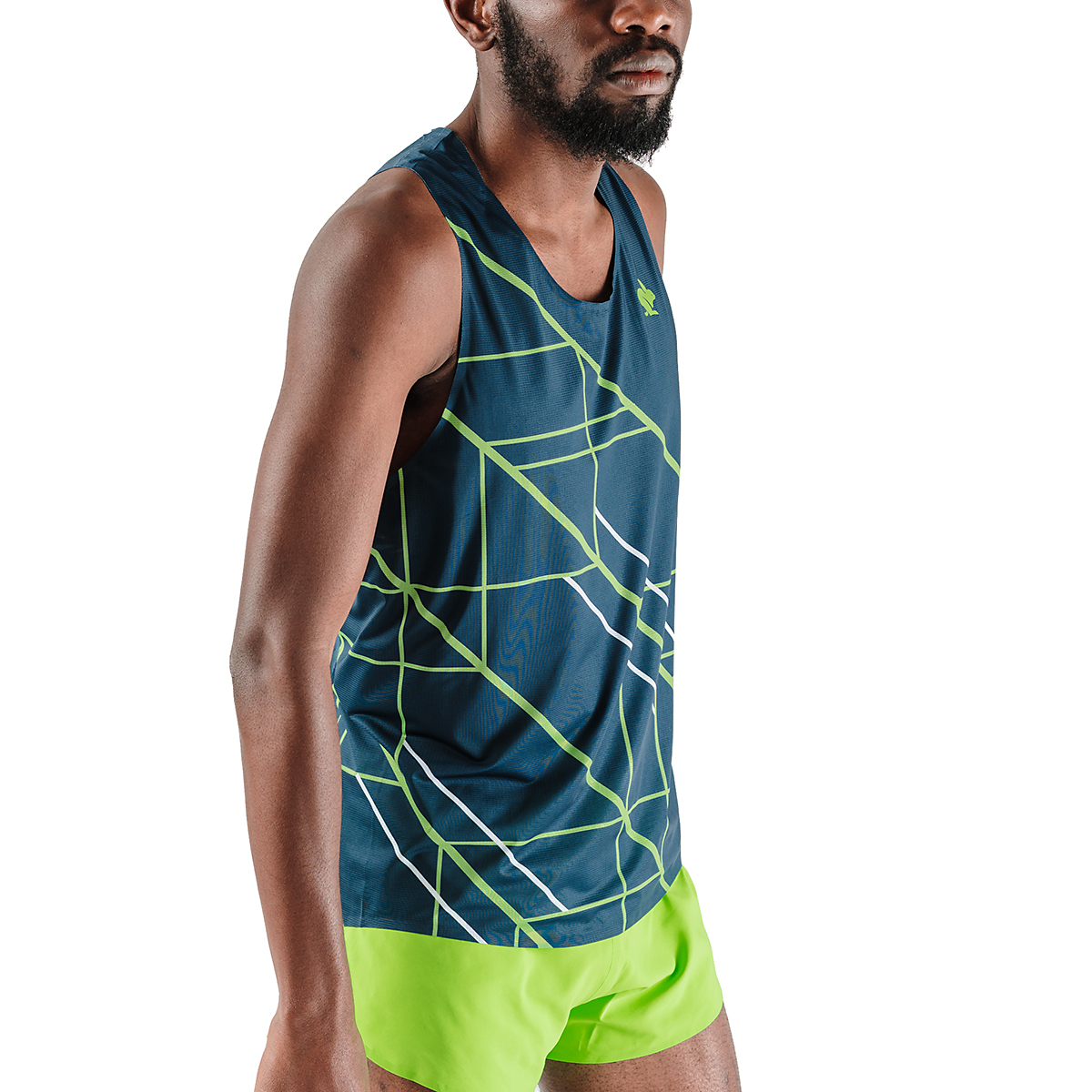 Men's Rabbit Speedeez Singlet - Color: Dress Blues/Green Gecko - Size: XS, Dress Blues/Green Gecko, large, image 4