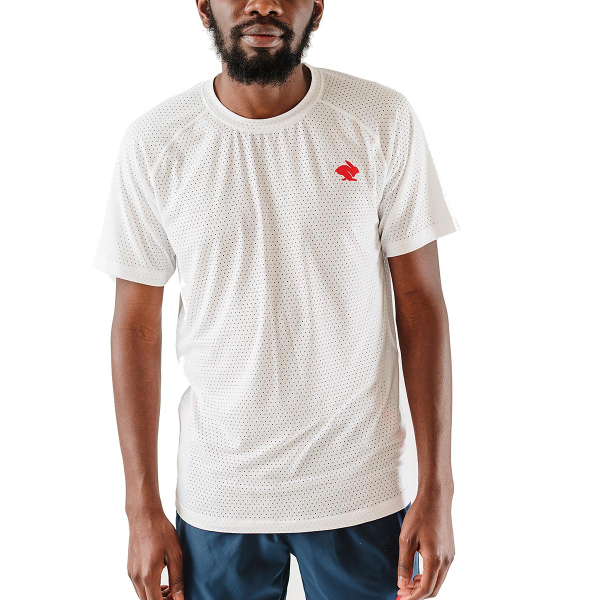 Men's Rabbit EZ Tee Perf Short Sleeve - JackRabbit Exclusive - Color: White - Size: S, White, large, image 1