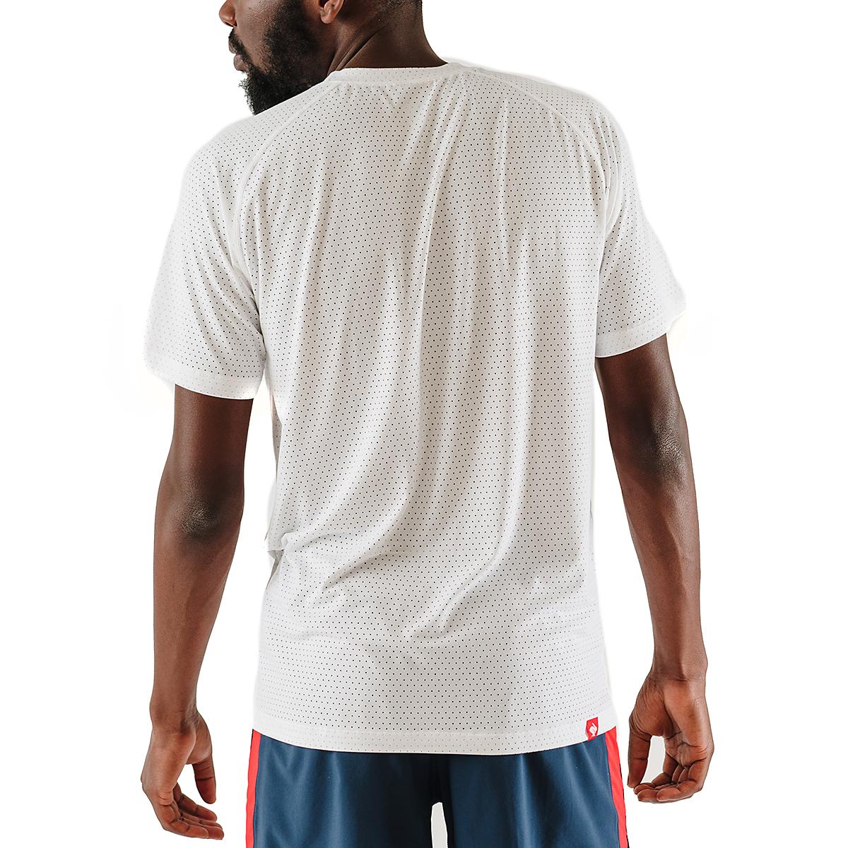 Men's Rabbit EZ Tee Perf Short Sleeve - JackRabbit Exclusive - Color: White - Size: S, White, large, image 2