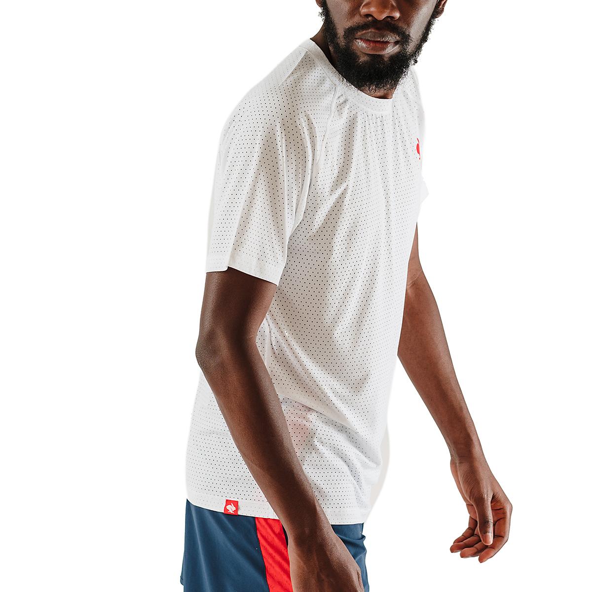 Men's Rabbit EZ Tee Perf Short Sleeve - JackRabbit Exclusive - Color: White - Size: S, White, large, image 3