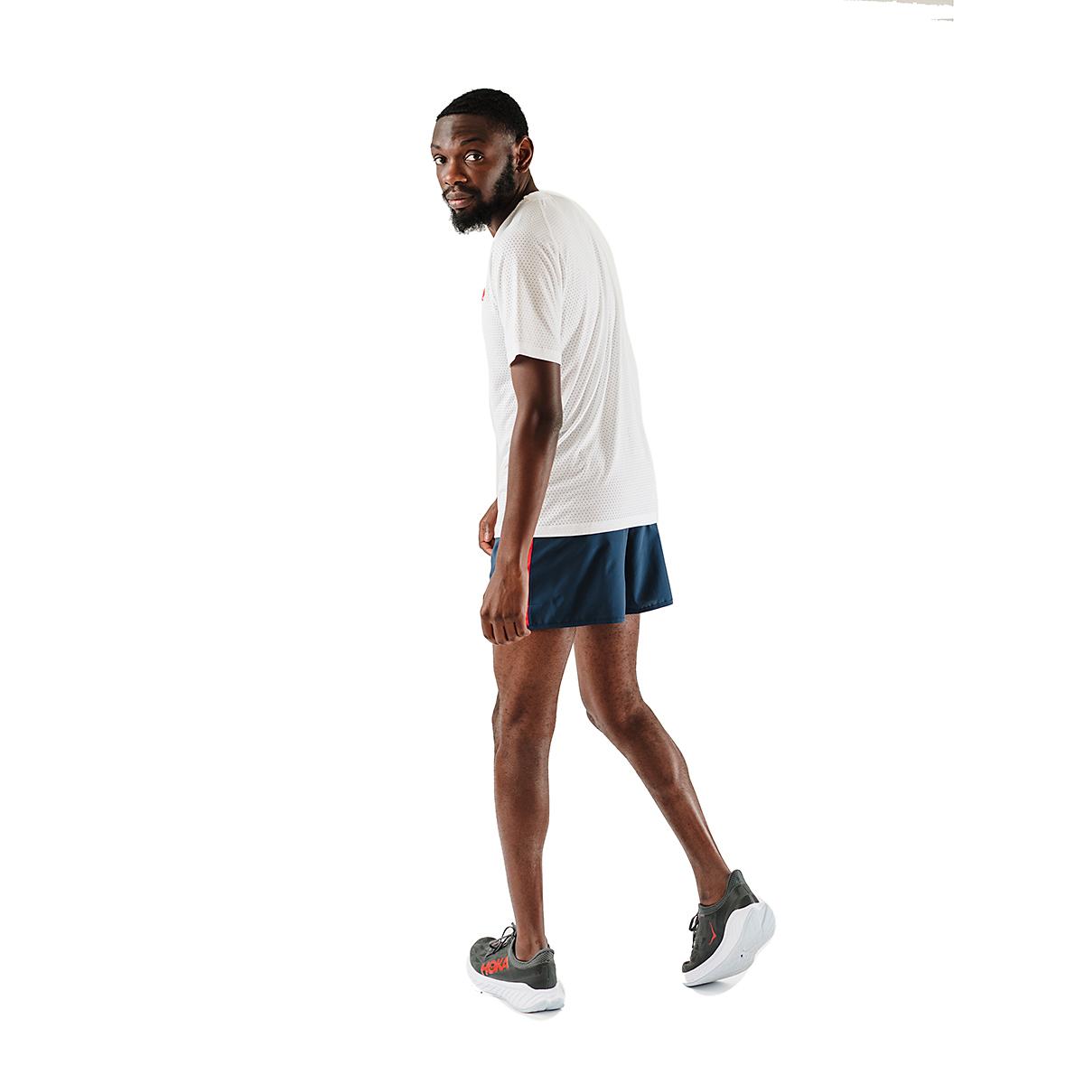 Men's Rabbit EZ Tee Perf Short Sleeve - JackRabbit Exclusive - Color: White - Size: S, White, large, image 4